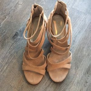 Aerosoles Strappy Suede Wedges - Glossary wedge